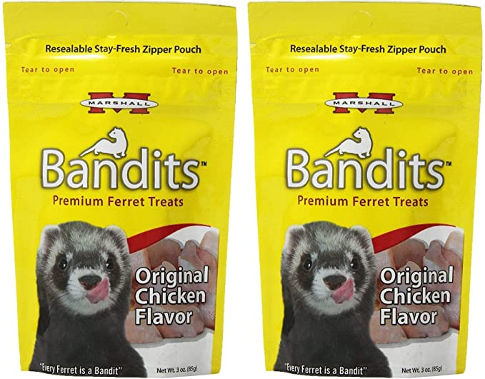 Amazon.com: Marshall Bandit Ferret Treats, 4 onza: Mascotas