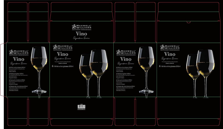 Amazon.com: Maxwell Williams Vino Signature Series Set of 6, 12.5 floz White Wine Glasses: Home & Kitchen