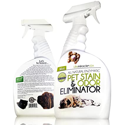 Life Miracle USA Natural Enzyme Cleaner - Safe, Non-Toxic Pet & Laundry  Stain Remover, Odor Eliminator Neutralizer | Upholstery Carpet Cleaning &  Rug