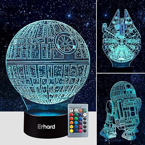 40D Led Illusion Lamp Star Wars Night Light Three Pattern And 40 Stunning Star Wars Pattern