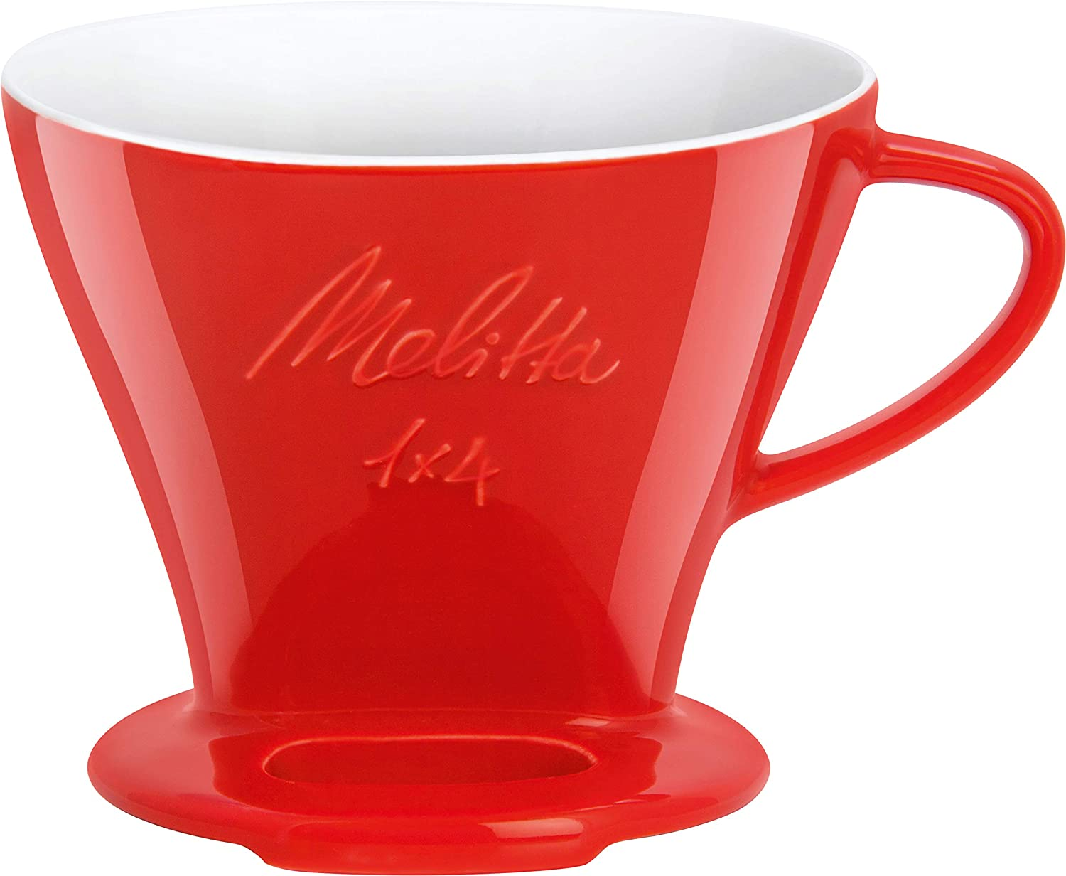 Melitta 6763135 Cone Porcelain Coffee Filter Size 1 x 4 Red