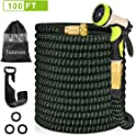Takuvan 100ft Durable Flexible Expanding Water Hose