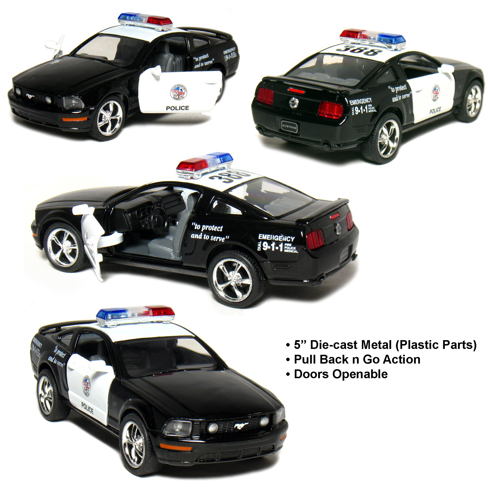 Ford Mustang GT Police 2006 Black & White 1-38 Toywonder