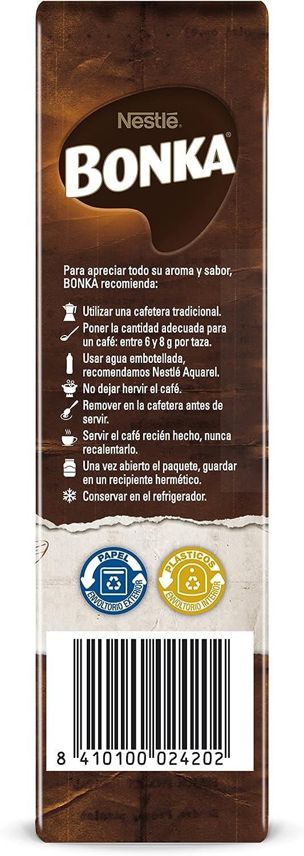 BONKA Café molido de tueste natural y cultivo sostenible - Paquete ...