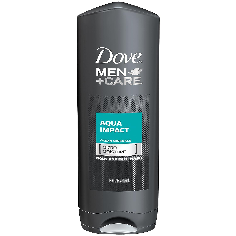 Dove Men+Care Body and Face Wash, Aqua Impact 18 Fl Oz (Pack of 1)