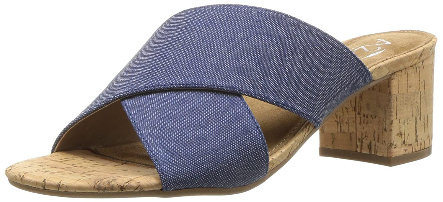 Aerosoles Women's Midday Slide Sandal B075SG49VR 6 M US|Denim Fabric