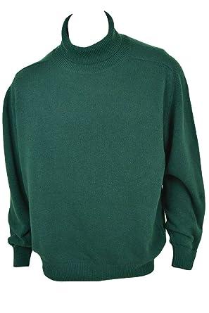 Maglione collo alto verde