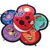 Lamaze Marienkäfer-Spieldecke   Babydecke ab 0 Monaten in ansprechenden Farben mit vielen bunten Spielsachen zur Förderung der motorischen Fähigkeiten