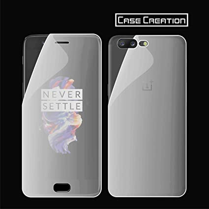 sports shoes c76f4 bbc17 Case Creation 3D Full Cover Anti-Scratch/Shock/Oil Oleophobic Coating/Front  and Back HD Layer Screen Guard for OnePlus 5 (Transparent)