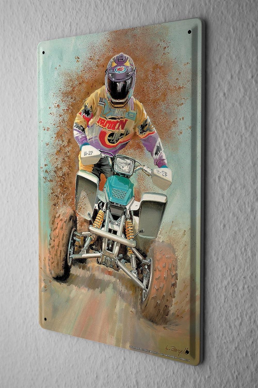 LEotiE SINCE 2004 Esp/èces doiseaux Plaque en M/étal M/étallique Poster Mural tin Sign Route Quad Off Publicit/é Signes en M/étal 20X30 cm