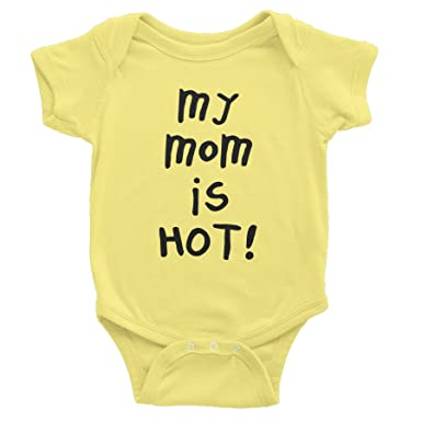 f6098e684 Amazon.com  My Mom Is Hot - Funny Infant Baby Gift Onesie T-Shirt ...