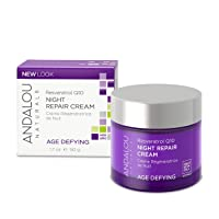 Andalou Naturals Resveratrol Q10 Night Repair Cream, 1.7 Ounces