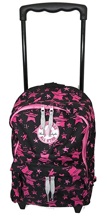b2e8ff79d549 Converse - Chuck Taylor - All Star - Kids Small Rolling Backpack - Pink and  Black