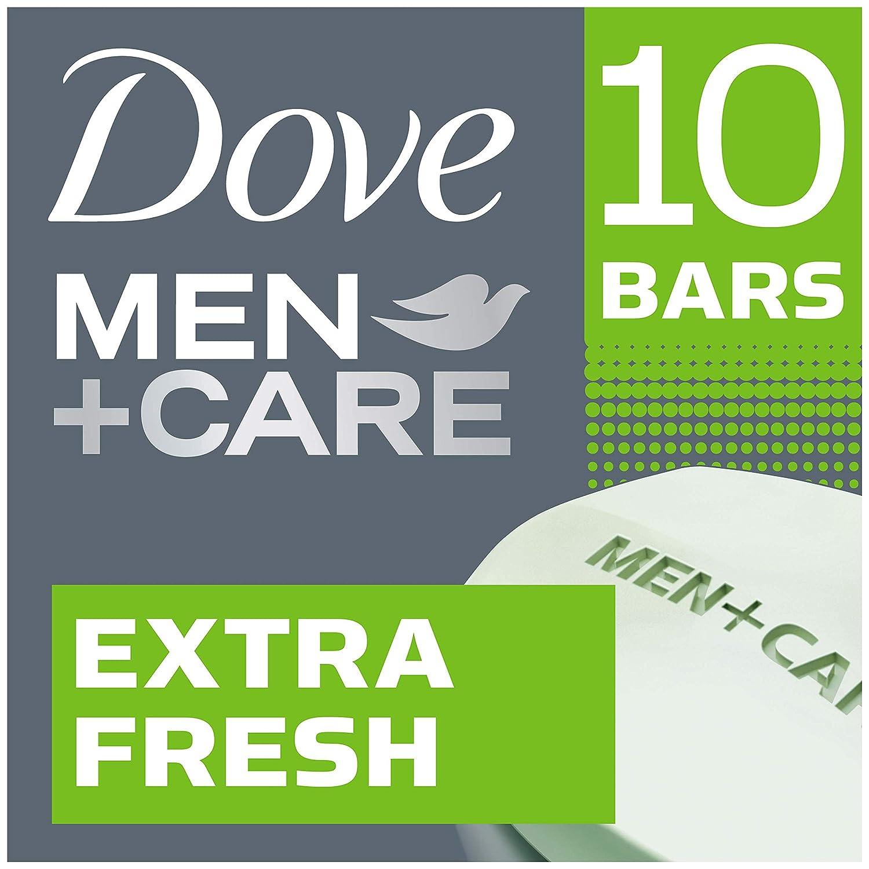 Dove Men+Care Body and Face Bar, Extra Fresh, 4 oz, 10 Bar Unilever 10011111458717