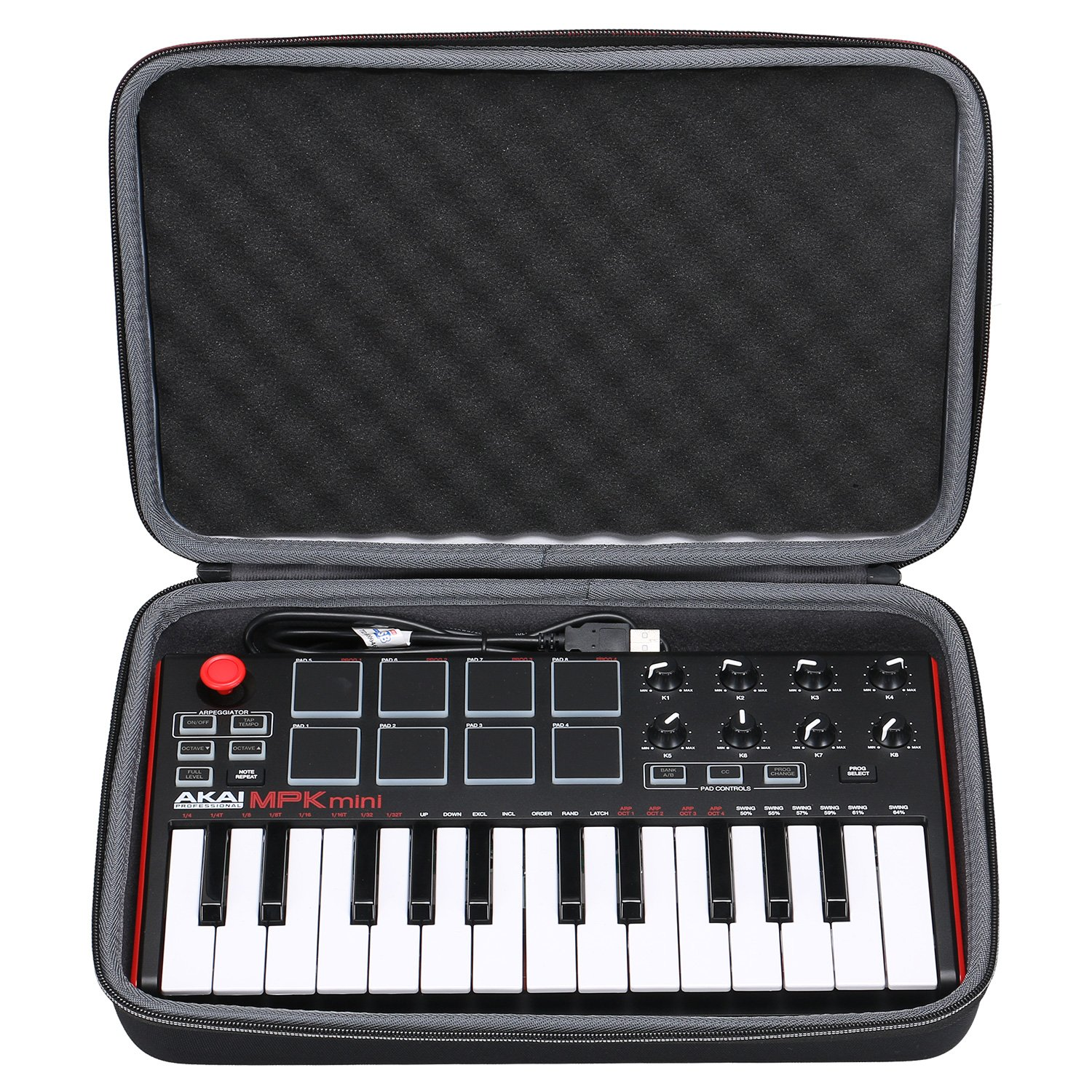 Akai Professional MPK Mini MKII Case, XANAD Case EVA Hard for Akai Professional MPK Mini MKII | 25-Key Ultra-Portable USB MIDI Drum Pad & Keyboard zdxtdmj026