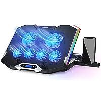 """TopMate C11 Base Refrigeradora Portatil, Refrigeracion para Portatil para Juegos RGB para Portátiles de 15,6-17,3"""", Base…"""