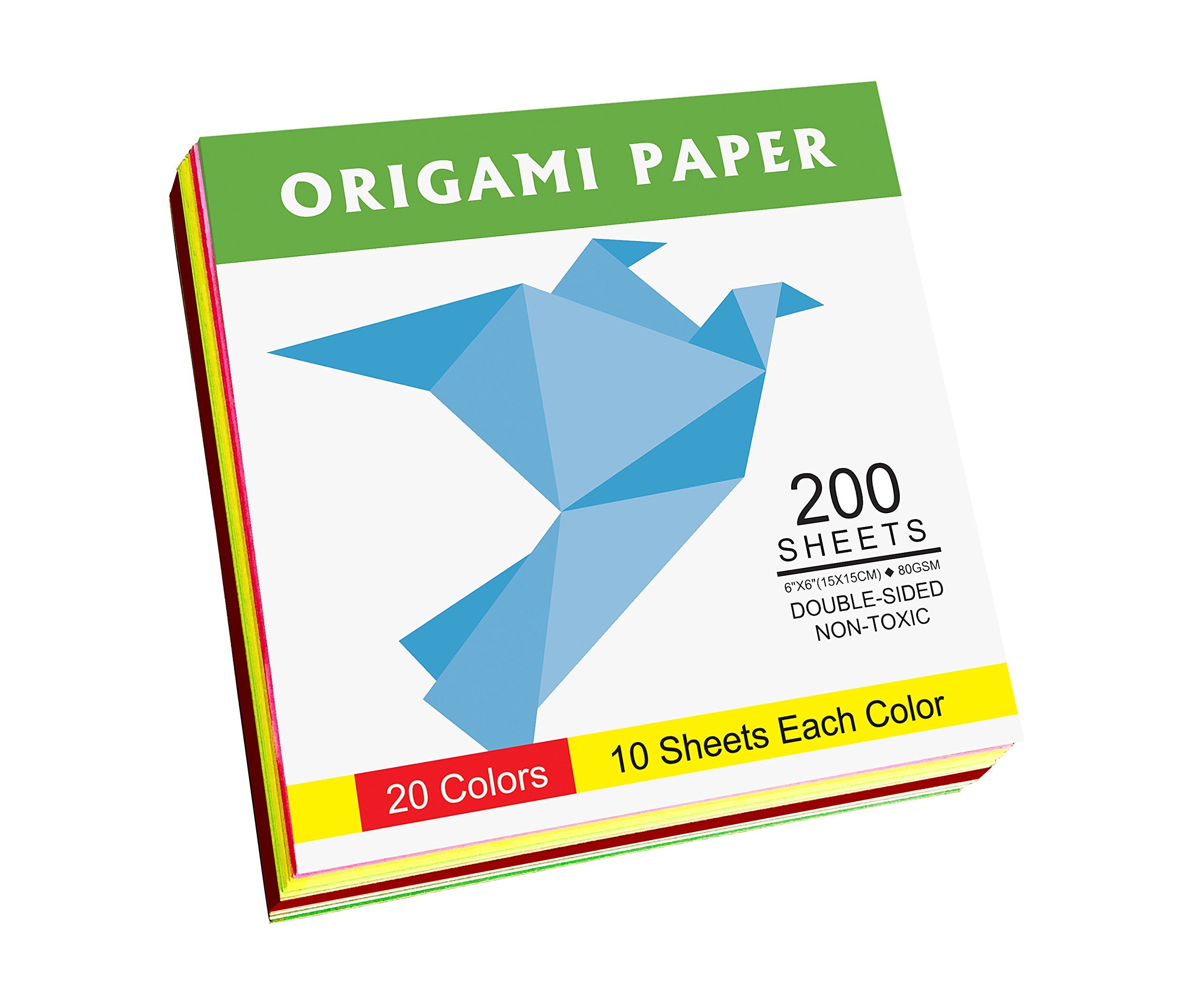 Origami Paper Double Sided Color - 200 Sheets - 20 Colors ... - photo#19