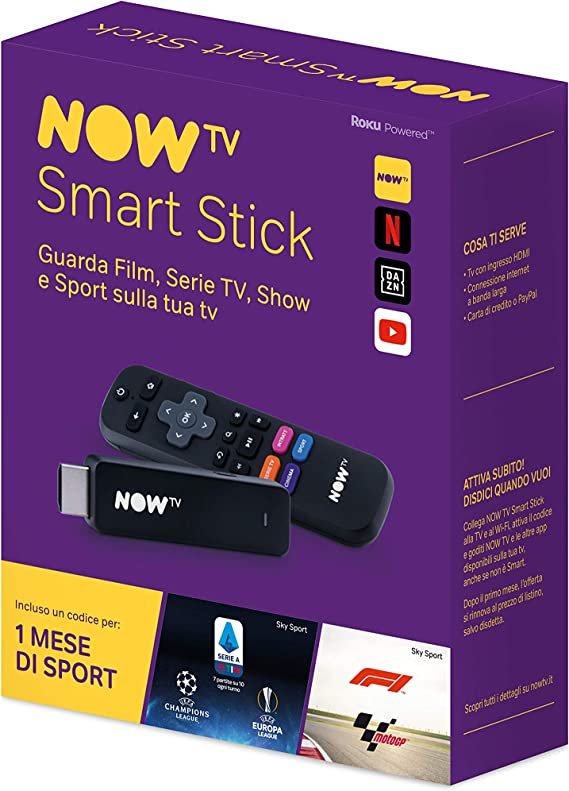 Now TV Smart Stick con el Primer Mes de Deporte Incluido, Llave de ...