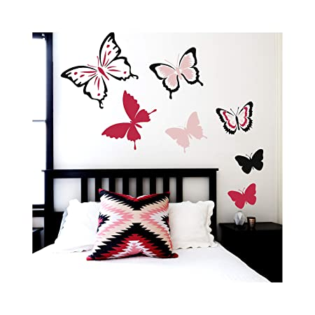 PAINT IT YOURSELF DIY wall art furniture airbrush Butterfly stencil template