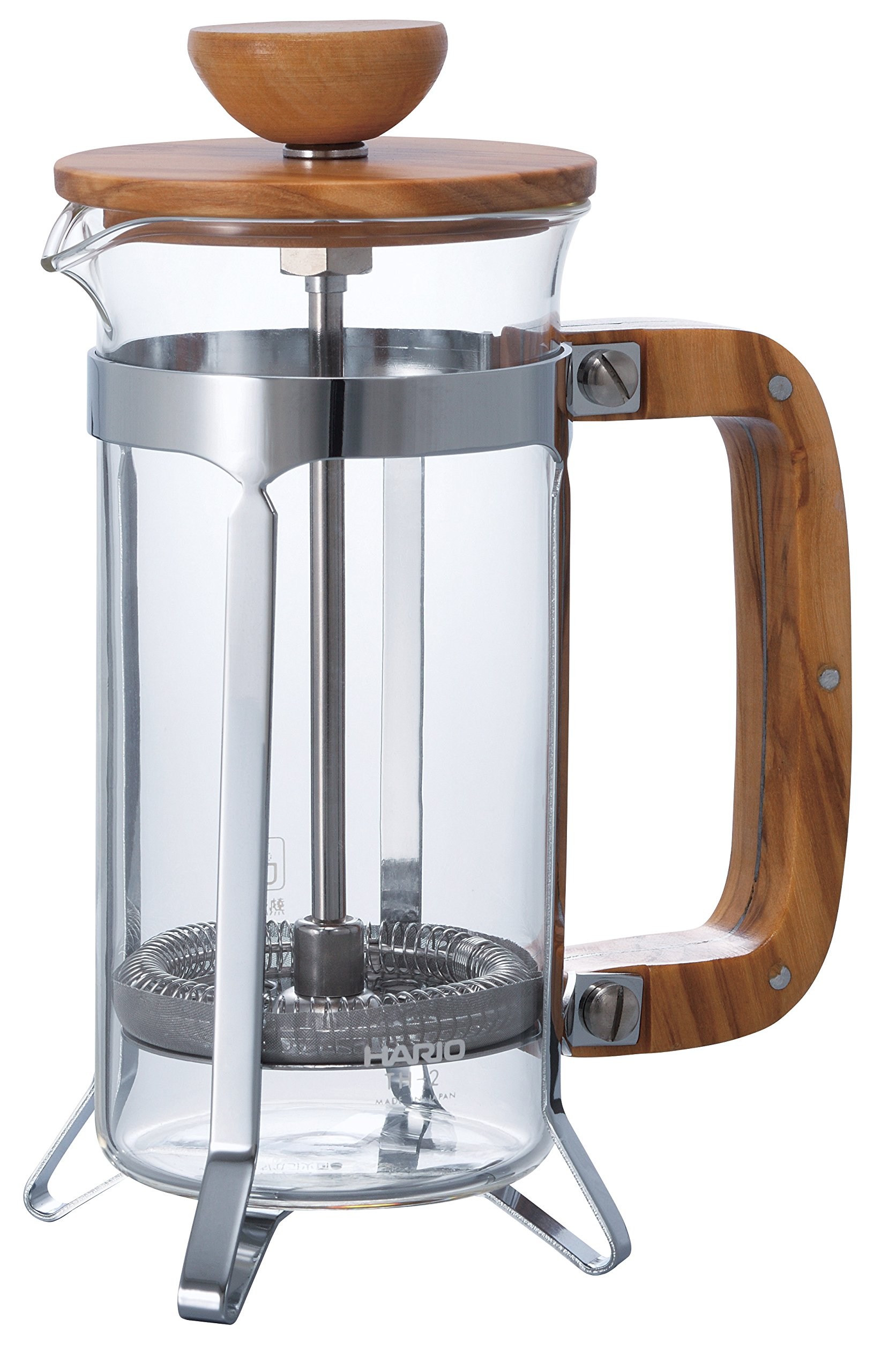Hario CPSW-2-OV Olivewood Cafépress Coffee and Tea Press, 300ml