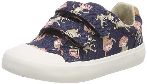 847dfde9ef168 Clarks Boys Canvas Shoes Comic Air - Blue Combi Canvas - UK Size 7G - EU