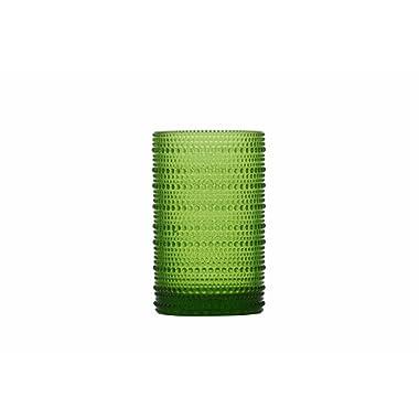 D&V Jupiter Glass Collection Iced Beverage, 13 Ounce, Fern, Set of 6