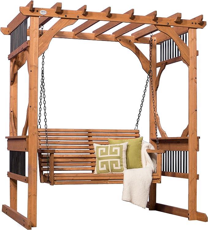 Backyard descubrimiento Deluxe Cedar Pergola Swing: Amazon.es: Jardín