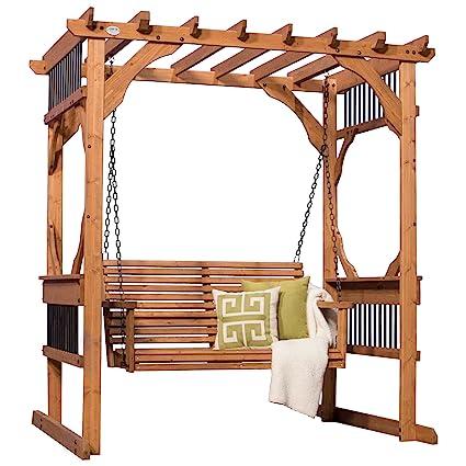 Backyard Discovery Deluxe Cedar Pergola Swing - Amazon.com : Backyard Discovery Deluxe Cedar Pergola Swing : Garden