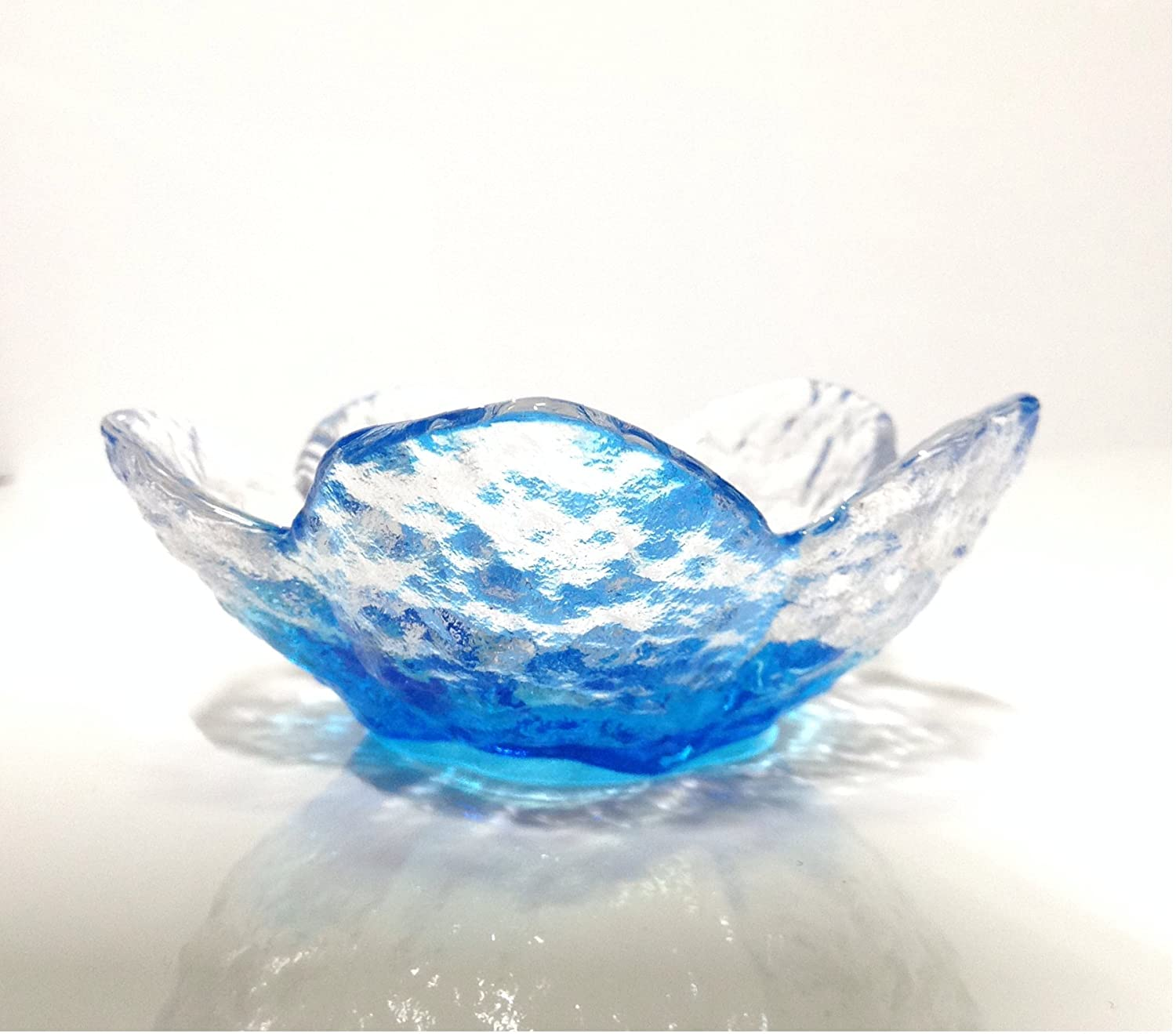 Glass Cherry Small Plate Side Dish Small Plate Blue 3 Packs