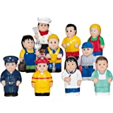 Menchies Little Kids Figures Playset - Little Kids Community Play Figures - Little Figures for Preschool or Toddlers - Includes Fireman and Policeman Figures -Great Gift for Toddlers