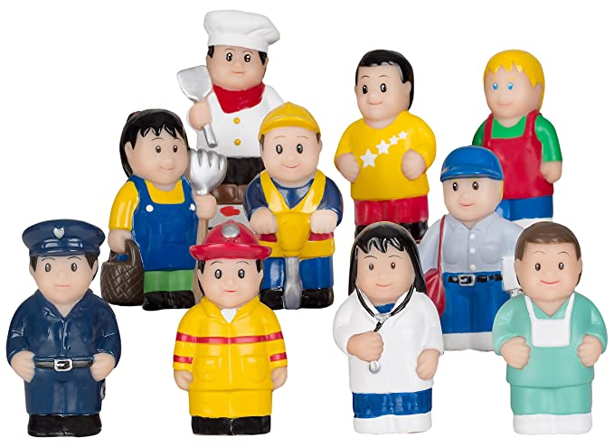 Menchies Little Kids Figures Playset – Little Kids Community Play Figures – Little Figures for Preschool or Toddlers – Includes Fireman and Policeman Figures -$18.99