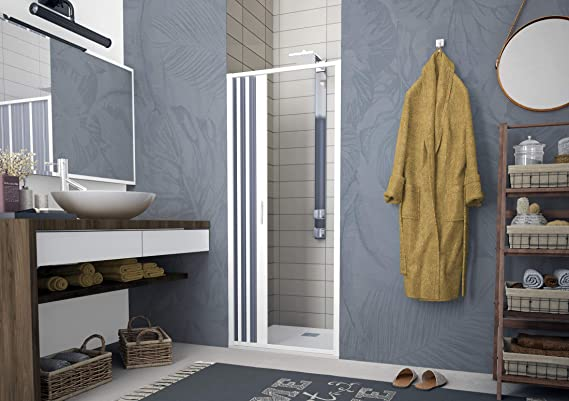 Mampara de ducha plegable con fuelle, BXF123001: Amazon.es ...