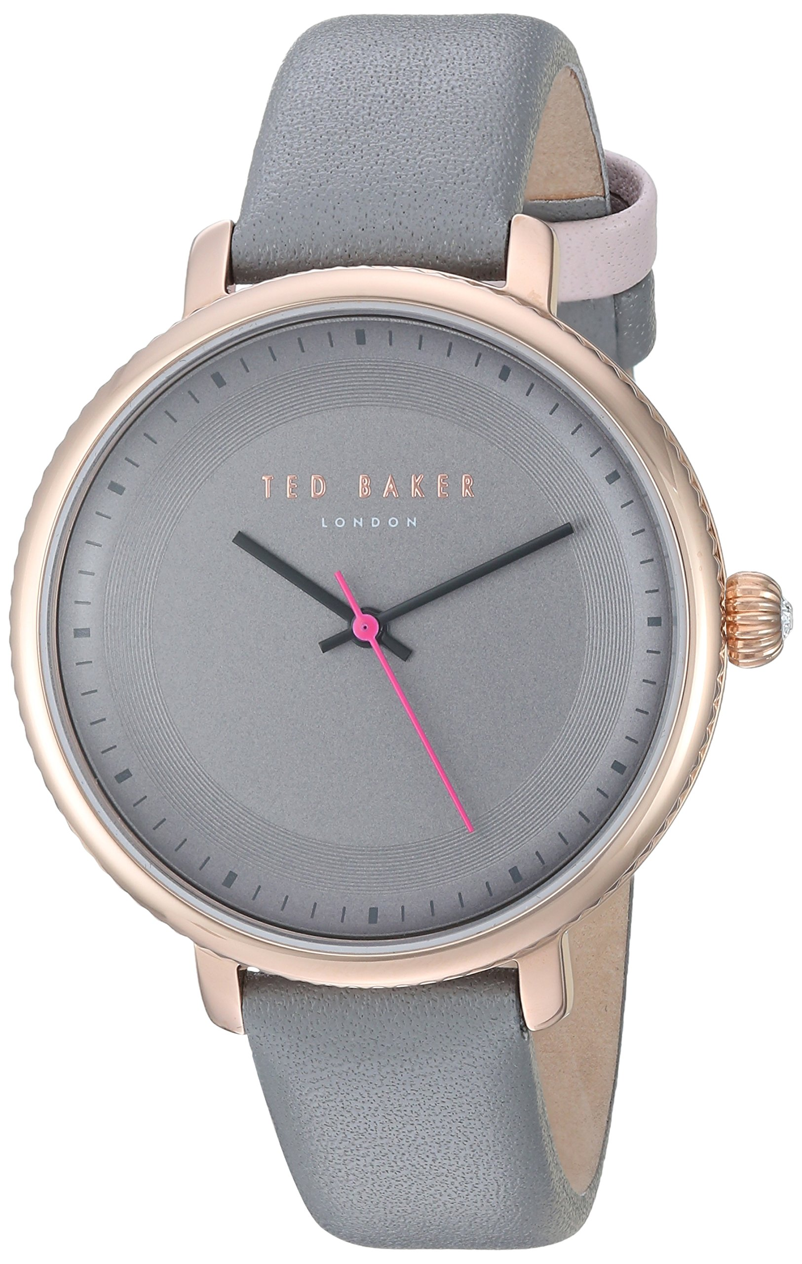 Ted Baker Women's 'ISLA' Quartz Stainless Steel and Leather Dress Watch, Color:Grey (Model: 10031534)
