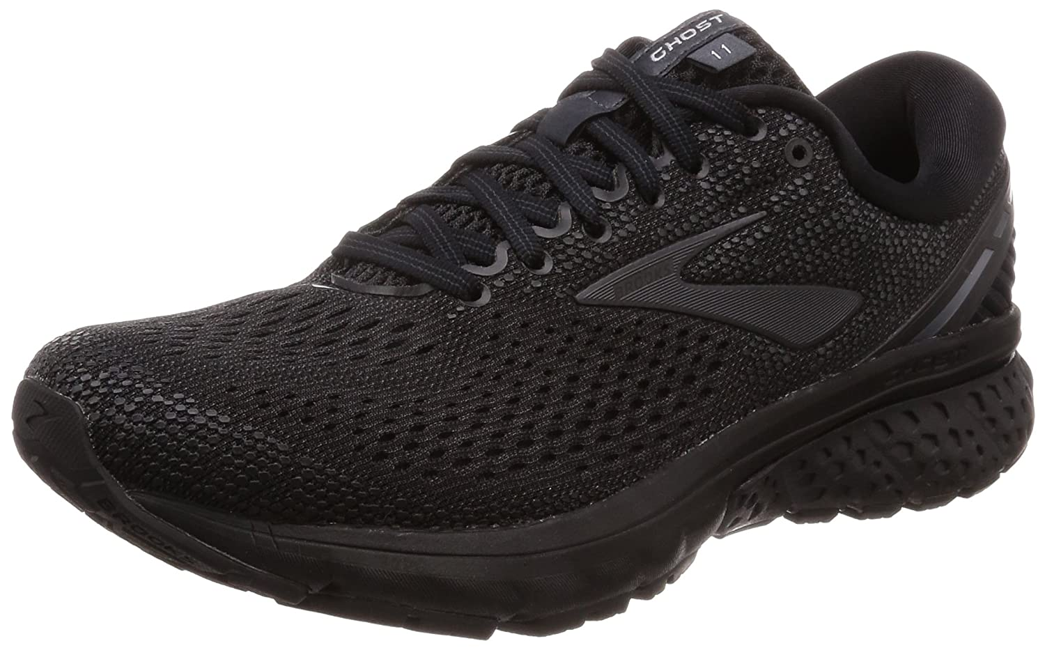 Brooks Womens Ghost 11 Running Shoe B077QSH8HD 8 B(M) US|Black/Ebony
