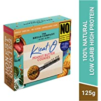 The Bread Company Keto Cookies -Low Carb, High Protein | Less Than 8 net Carbs per 30 GMS (Peanut Butter, Pack of 1)