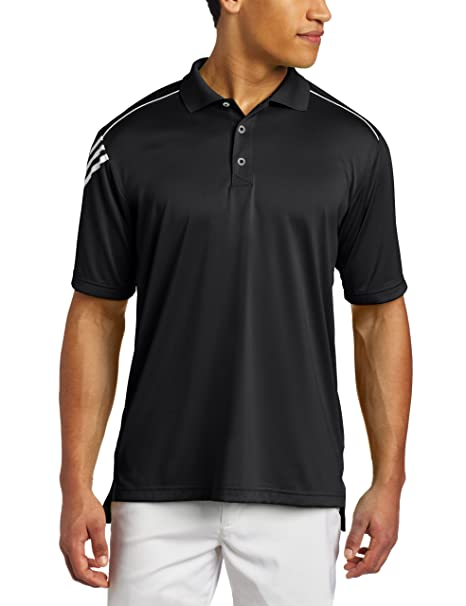 9653ebf0 Amazon.com: adidas Golf Men's Climacool 3-Stripes Polo Shirt: Clothing