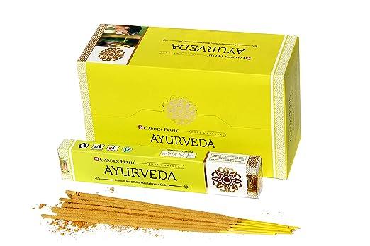 Jardin fresco : Incienso Premium Ayurveda | 12 Paquetes de 15 ...