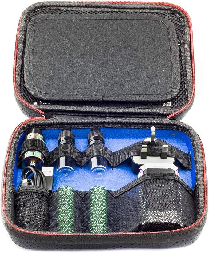 Vape Estuche para Herramientas y Accesorios de Vaping Baterías Bobinas Tanques Caja Mods Jugo Botellas de líquido Almacenamiento portátil de protección Bolsa de Transporte - Pequeña 21x18x6cm: Amazon.es: Electrónica