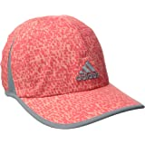 Adidas Women's adizero Extra Cap, One Size, Shock Red/Sun Glow Dappled Print/Grey