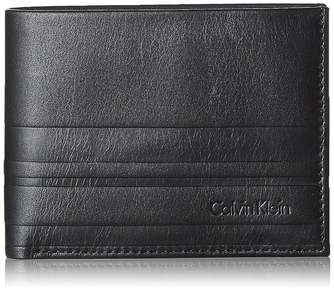 Calvin Klein Stripe 5cc+coin - Portafogli Uomo, Nero (Black), 3x10x12 cm (B x H T) K50K503568