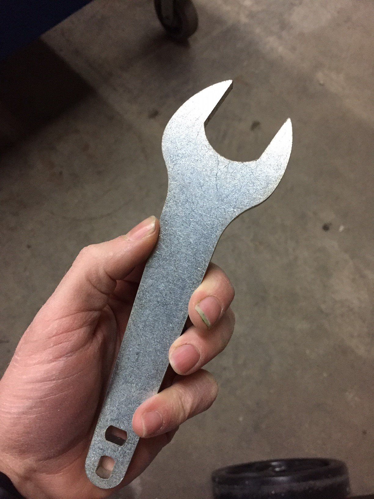 FWF Heavy Duty Oxygen Cylinder Tank Wrench for ( D, E, H OR T STYLE) LARGE CYLINDERS MADE IN USE