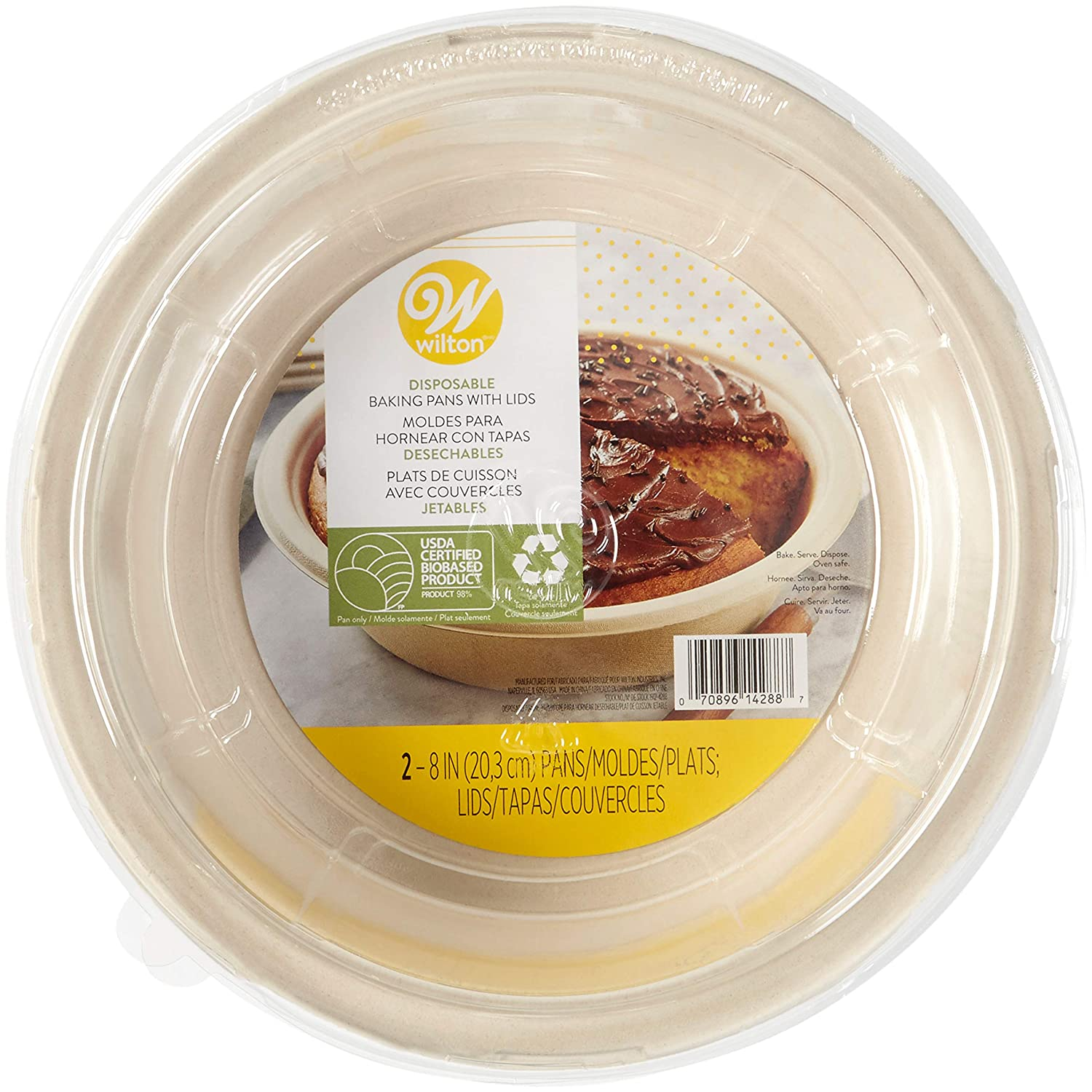 Amazon.com: Wilton Disposable Round Baking Pans With Lids, 6-Count: Kitchen & Dining