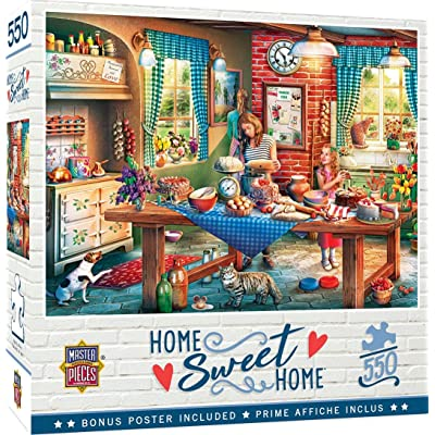 MasterPieces Home Sweet Home - Baking Bread 550-Piece Jigsaw Puzzle: Toys & Games