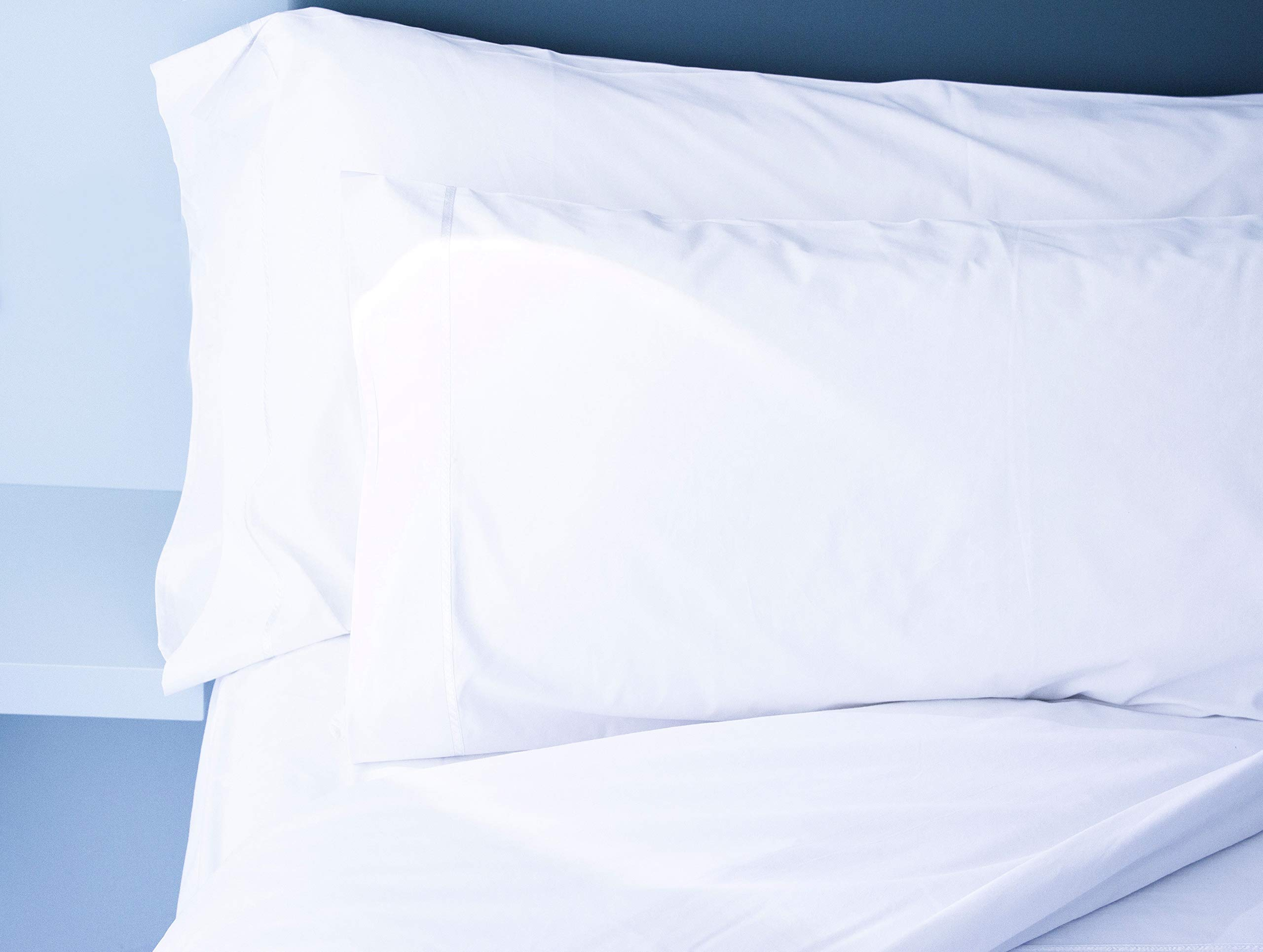 Atlas 1 Economy B Grade Pillow Cases Covers Standard Size White 130 Thread Count Hotel Pillow Cases