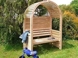 Pergola con asiento. Medidas: 128 x 73 x 196 cm.: Amazon.es: Bricolaje y herramientas