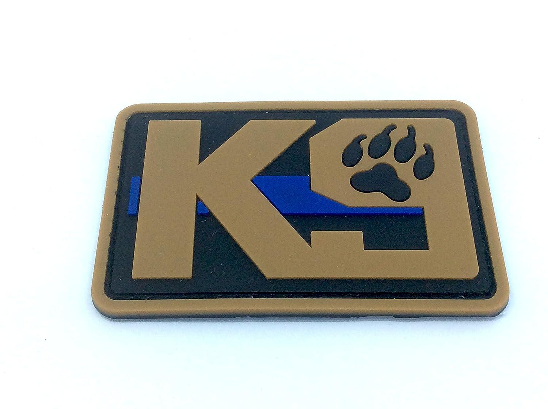 K9delgada línea azul Policía Perro para Airsoft y Paintball PVC parche de moral, Glow in the Dark, 80mm x 50mm Patch Nation