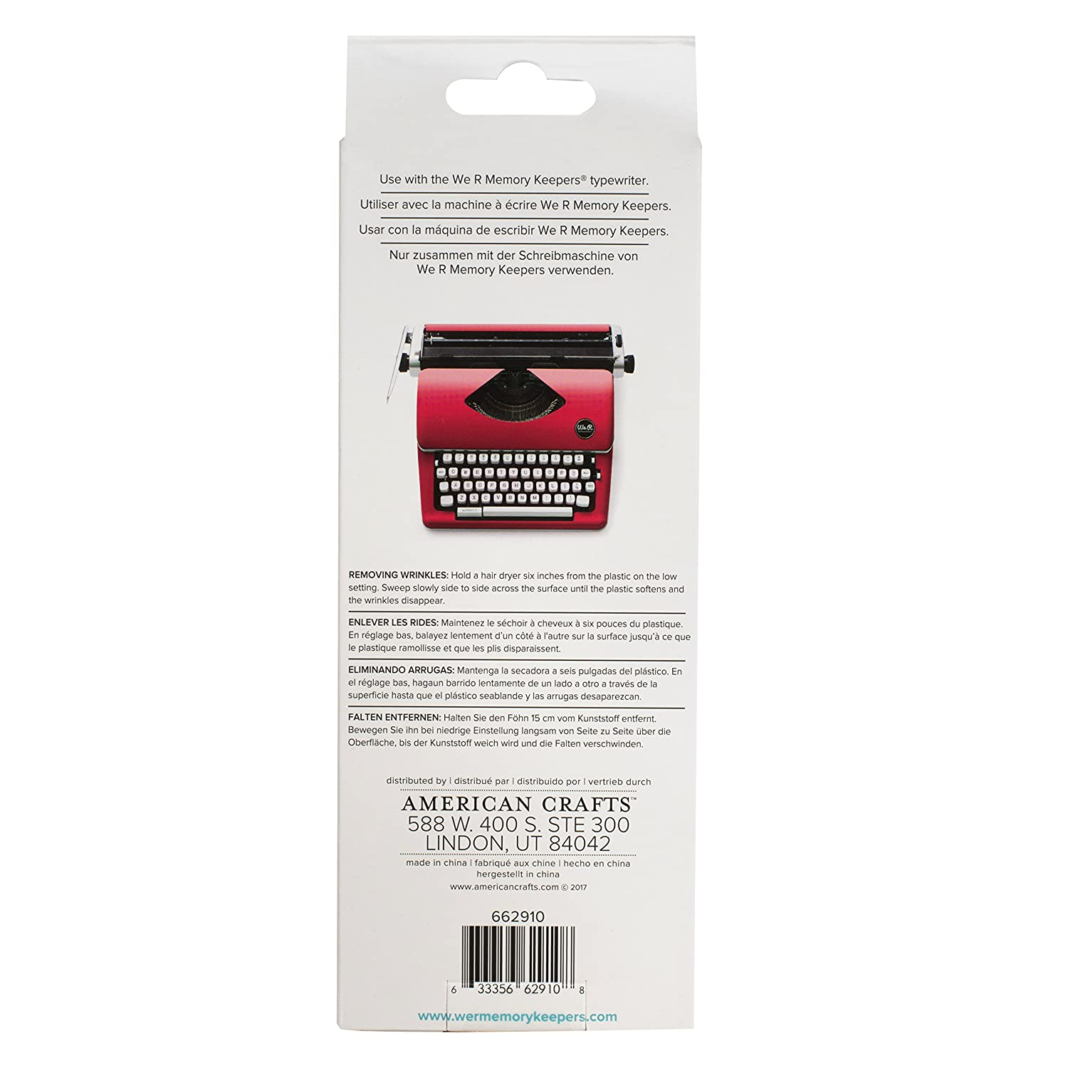 We R Memory Keepers Funda para máquina de Escribir Typecast Typewriter Rosa: Amazon.es: Hogar