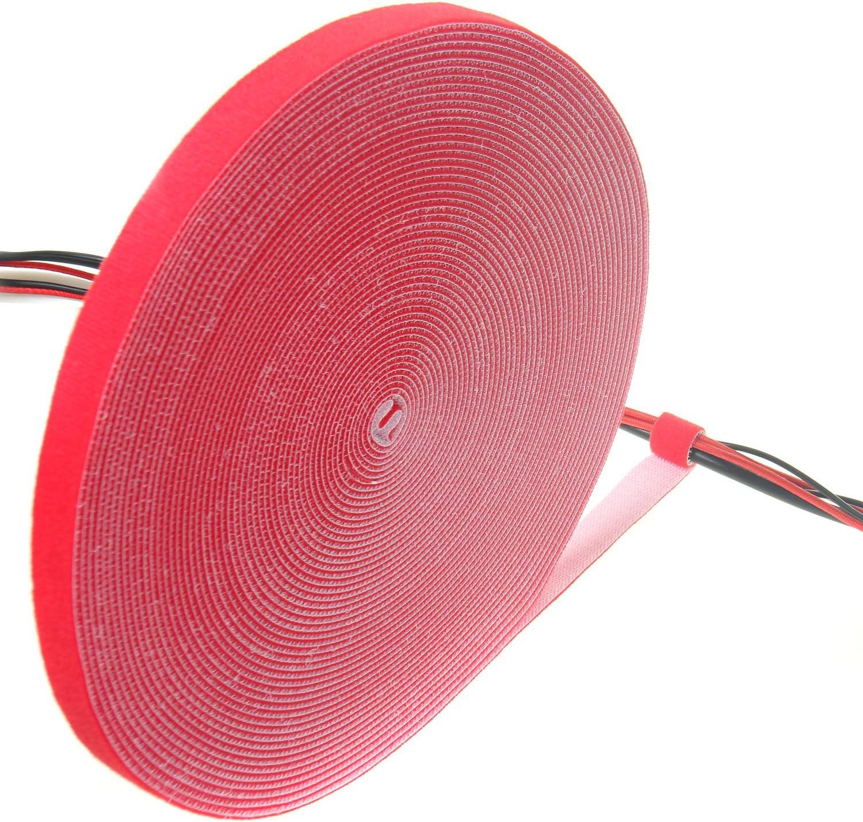 Reutilizable Ajustable amarillo TKB5013 yellow TUKA 10 m x 15mm Organizador de Cables Recortable Cinta adhesiva Cable Manguera Cinta de Gancho y Bucle Sujeta Cables Hook /& Loop Organizar Cables