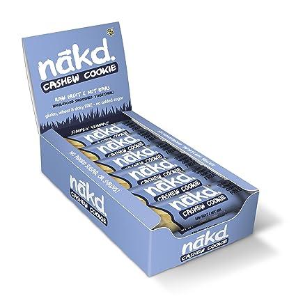 Nakd Barras Cookie & anacardos - sin gluten, sin lactosa, crudo, vegano |