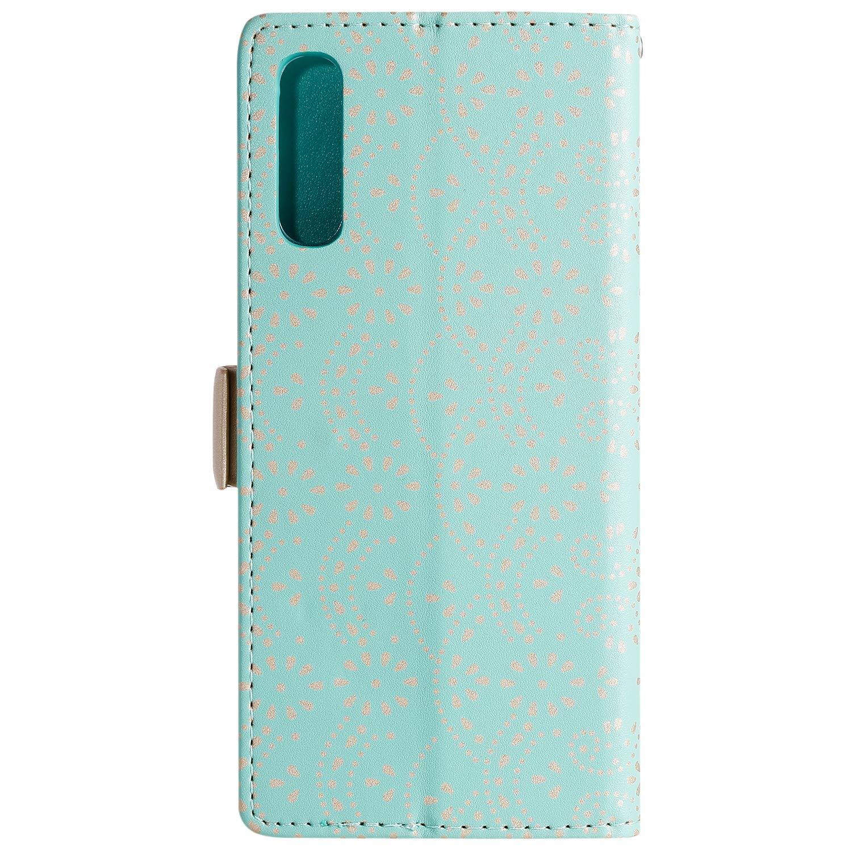 LOHHA120100 Bleu Lomogo Coque Galaxy A70 Housse en Cuir Portefeuille avec Porte Carte Fermeture par Rabat Aimant/é Antichoc /Étui Case pour Samsung Galaxy A70
